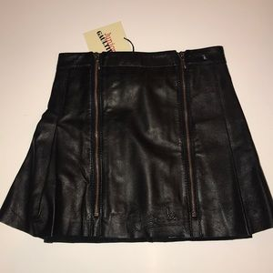 Junior Gaultier Girls 100% Leather Lined Skirt